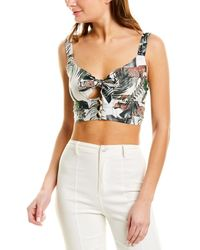 Suboo Xenia Tie-front Top - Green