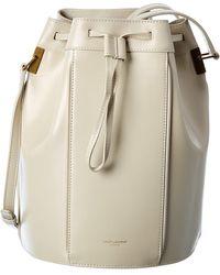 Saint Laurent Talitha Medium Leather Bucket Bag - Natural
