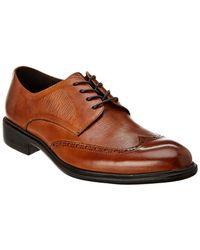 Kenneth Cole New York Garner Lace-up Leather Loafer - Brown