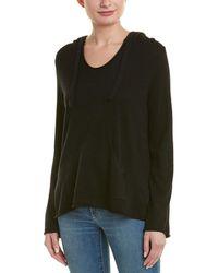 Monrow Hooded Wool & Cashmere-blend Poncho - Black