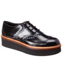 Tod's Tod?s Platform Leather Oxford - Black
