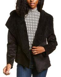 Anne Klein Draped Front Jacket - Black