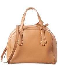The Row Leather Duffel Bag - Brown
