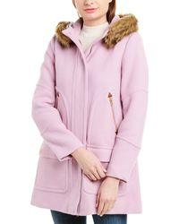 J.Crew Wool-blend Parka - Pink