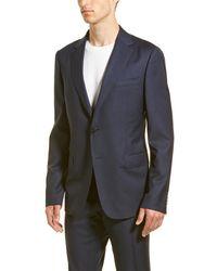 Ermenegildo Zegna Z Wool Suit With Flat Front Pant - Blue