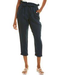 Donna Karan Pull-on Linen Pant - Blue