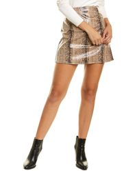 Sage the Label Ride Around Town Mini Skirt - Brown