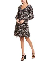 Rebecca Taylor Tilda Silk A-line Dress - Black