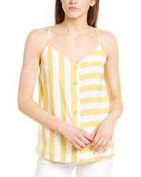 Joules Carper Linen-blend Tank - Yellow