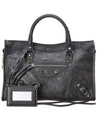 Balenciaga - Classic City Logo Strap Small Leather Shoulder Bag - Lyst