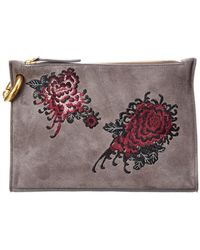 A.L.C. - Embroidered Suede Joni Pouch - Lyst