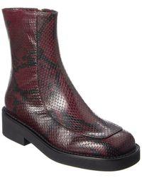 Marni Leather Boot - Purple