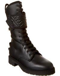 Fendi Promenades Leather Boot - Black