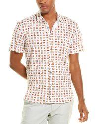 Loft 604 Antique Devices Knit Button-down Shirt - White