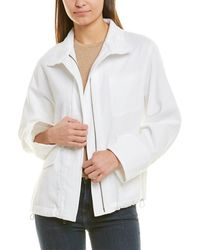 Vince Casual Military Jacket - White