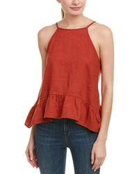 4our Dreamers - Ruffled Linen Blouse - Lyst