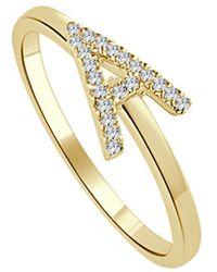 Sabrina Designs 14k 0.10 Ct. Tw. Diamond Initial Ring - Metallic