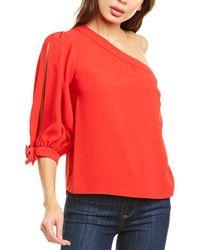 Amanda Uprichard One-shoulder Top - Red
