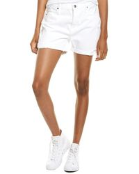 FRAME Denim Le Beau Blanc Elsey Short - White