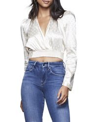 GOOD AMERICAN The Tempest Dotted Blouse - White