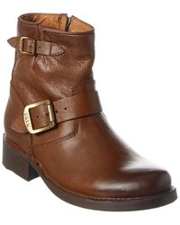 Frye Vicky Leather Bootie - Brown