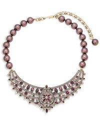 Heidi Daus Pave Crystal Necklace - Purple