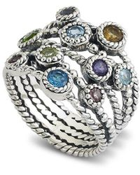 Samuel B. Silver 1.50 Ct. Tw. Gemstone Ring - Metallic