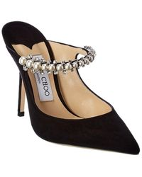 Jimmy Choo Bing 100 Suede Pump - Black