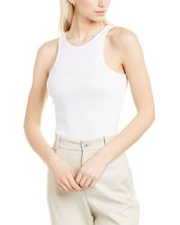 French Connection Shali Ribbed Jersey Tank - White