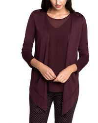 NIC+ZOE - Paired Up Silk-blend Cardy - Lyst