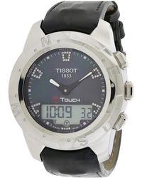Tissot - Women's T-touch Ii Diamond Watch - Lyst