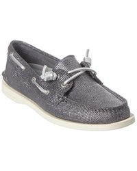 Sperry Top-Sider A Leather Boat Shoe - Grey