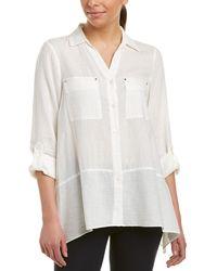 Jones New York - Linen-blend Shirt - Lyst