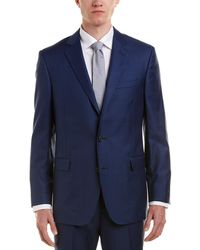 Brooks Brothers 1818 Regent Fit Wool Suit With Flat Front Pant - Blue