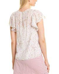 Rebecca Taylor Zadie Fleur Silk-blend Top - White