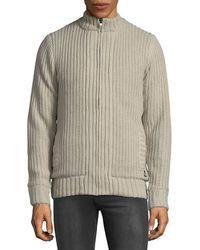 American Stitch Men's Knitted Cardigan - Beige - Size M - Natural