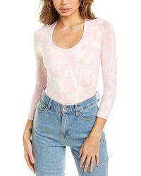 LoveShackFancy Cut And Sew Hand Dye Helene Bodysuit - Pink
