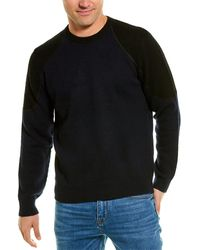 FRAME Denim Colorblocked Pilot Wool-blend Sweater - Blue