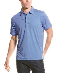 Robert Graham Retutemann Knit Polo Shirt - Blue