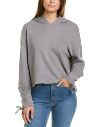 Chaser Lace-up Sleeve Cashmere-blend Hoodie - Grey