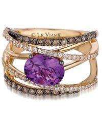 Le Vian ? 14k 1.73 Ct. Tw. Diamond & Amethyst Ring - Pink