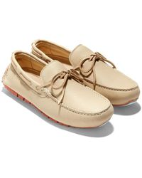 Cole Haan Zerogrand Driver Leather Loafer - Natural
