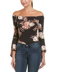 Romeo and Juliet Couture Off-the-shoulder Bodysuit - Multicolour