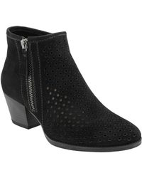 Earth - Pineberry Perforated Leather Bootie - Lyst