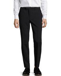 John Varvatos - Collection Striped Slim Fit Straight Leg Trouser - Lyst