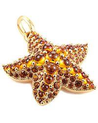 Pomellato Sirene 18k Rose Gold Citrine & Quartz Starfish Pendant - Metallic