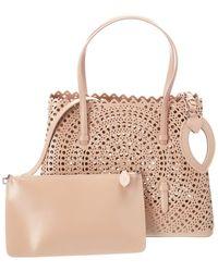 Alaïa Mina 32 Leather Shoulder Bag - Pink