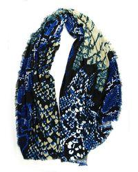 Michael Stars Oversized Snake Wrap - Blue