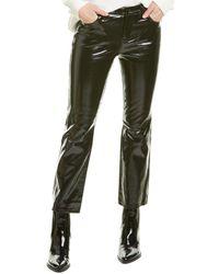 J Brand Selena Mid Rise Leather Crop Boot Leg - Black