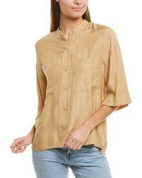 Vince - Utility Silk-blend Shirt - Lyst